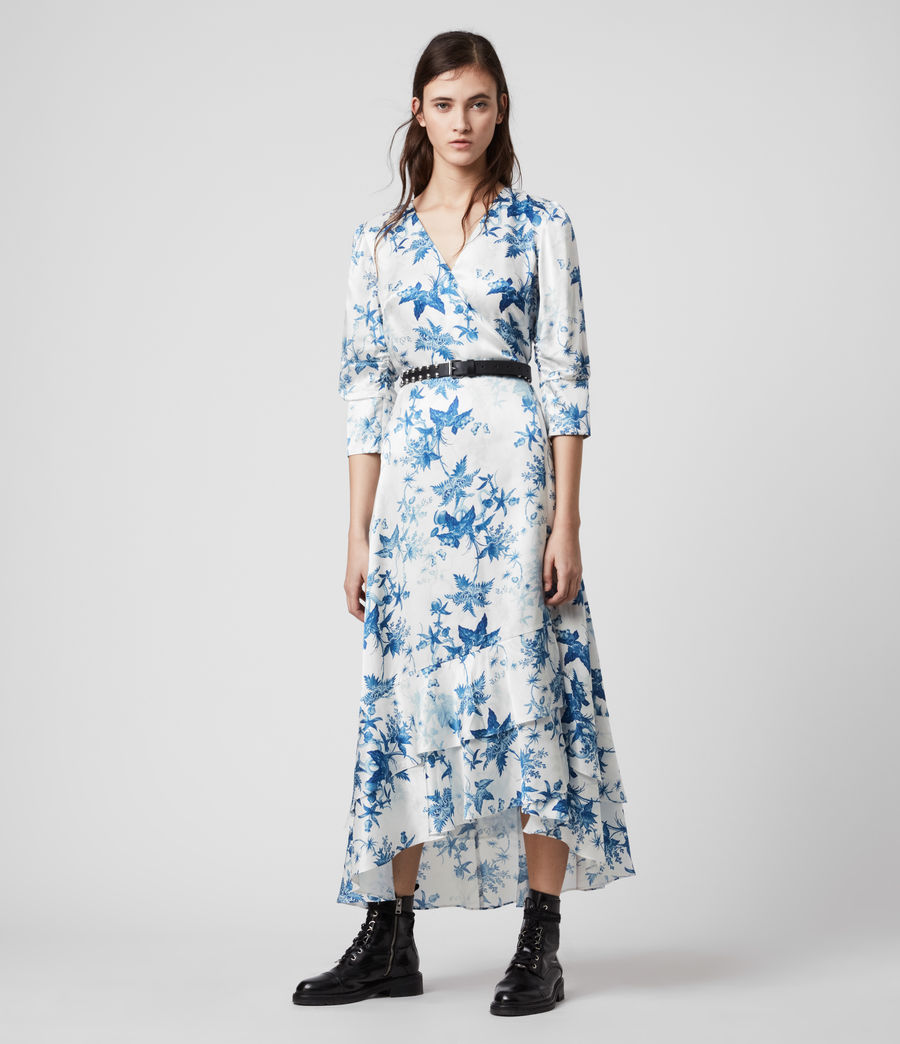Mujer Tage Silk Blend Evolution Dress (cornflower_blue) - Image 1