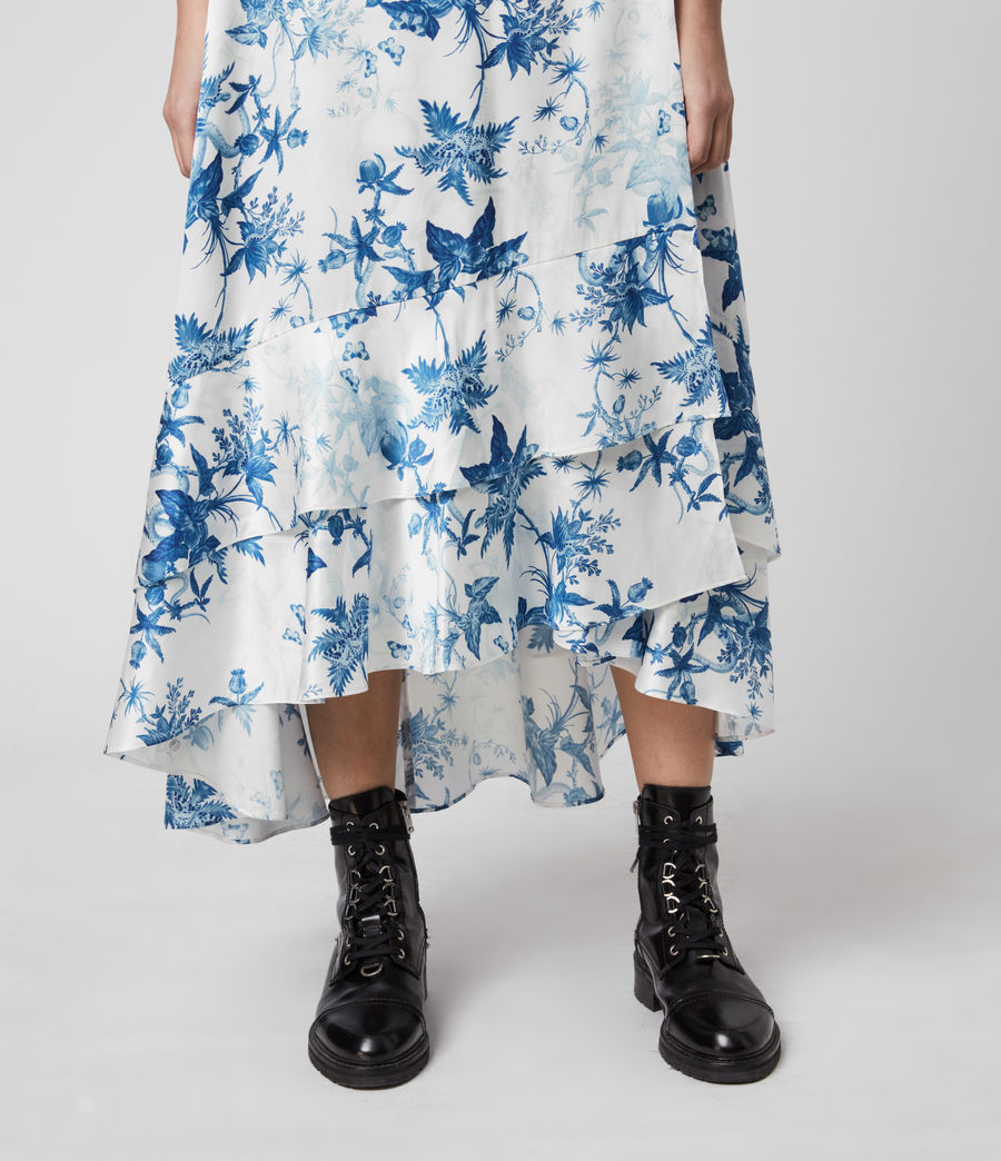 Mujer Tage Silk Blend Evolution Dress (cornflower_blue) - Image 4