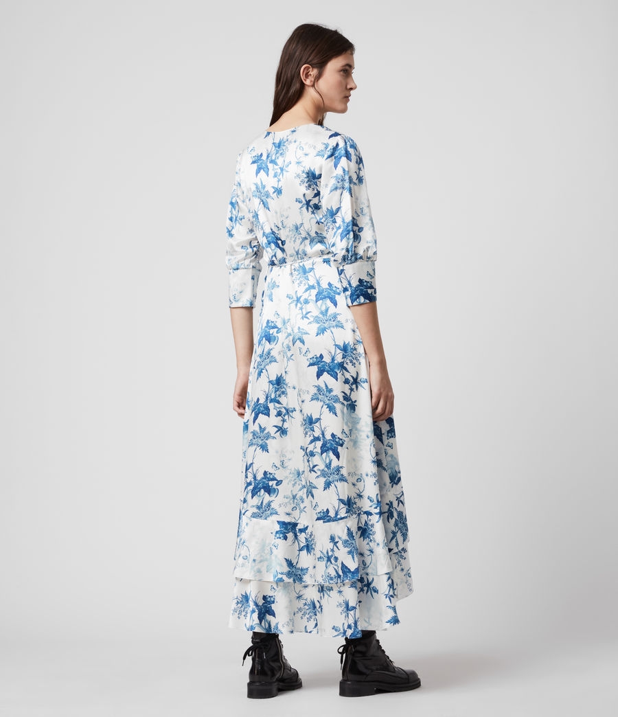 Mujer Tage Silk Blend Evolution Dress (cornflower_blue) - Image 5
