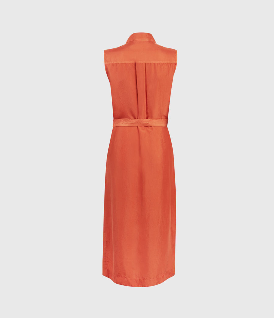 Femmes Robe en Soie Esthie (hot_tango_orange) - Image 2