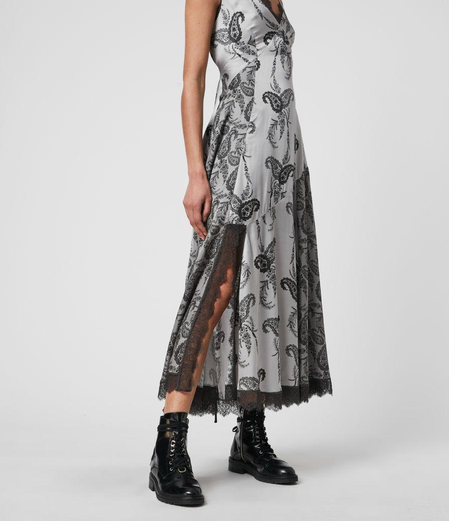 Womens Nysa Kashmir Silk Blend Dress (grey) - Image 4