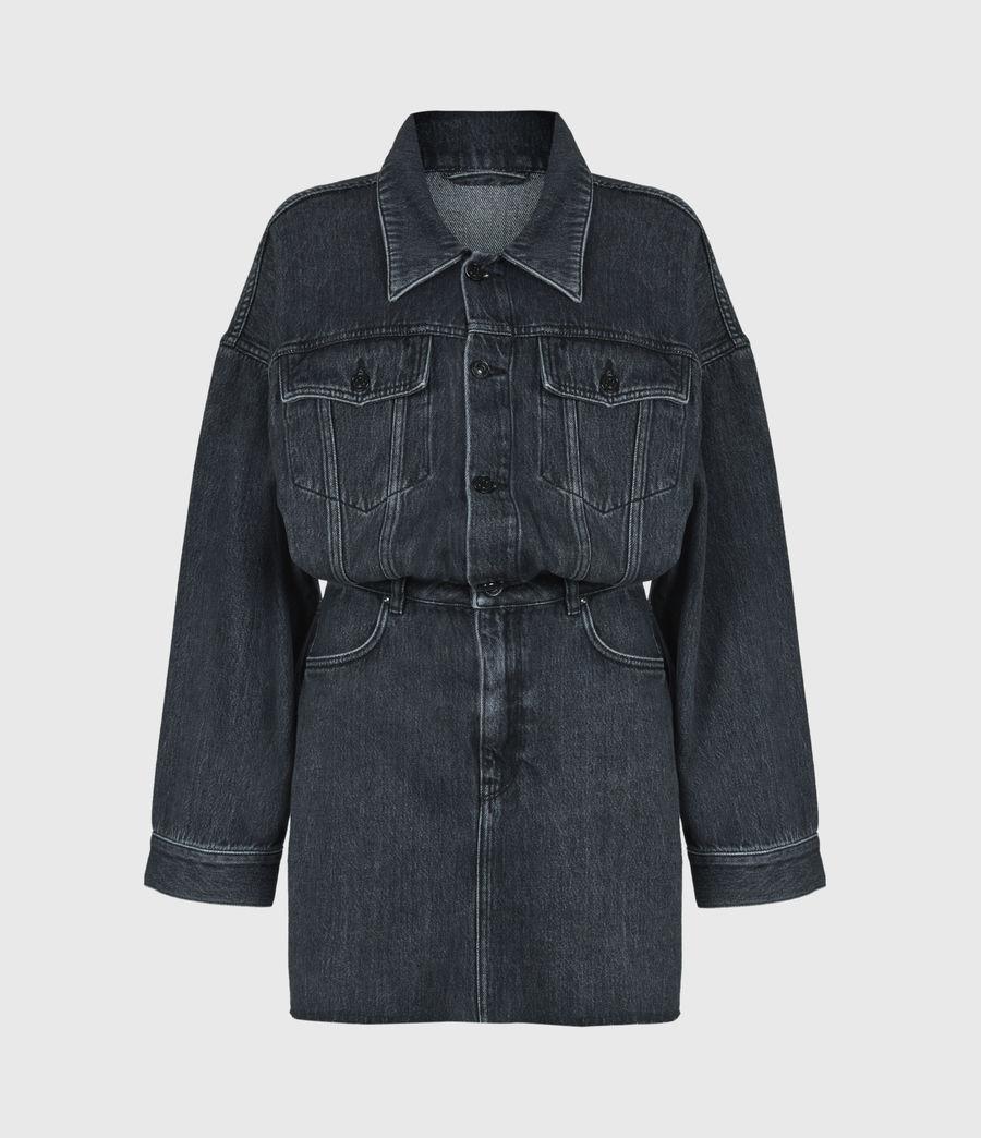 Women's Dakota Denim Dress (washed_black) - Image 2