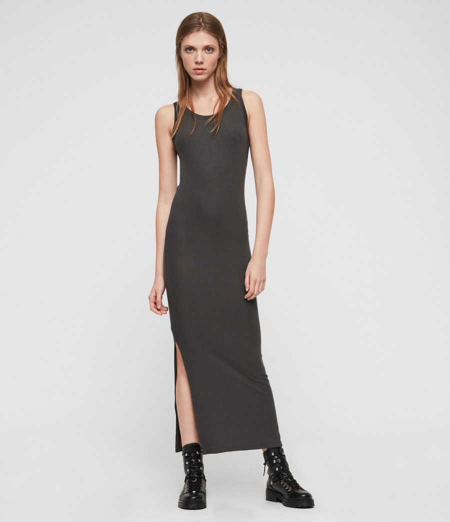 Womens Rina Tank Dress (anthracite) - Image 1