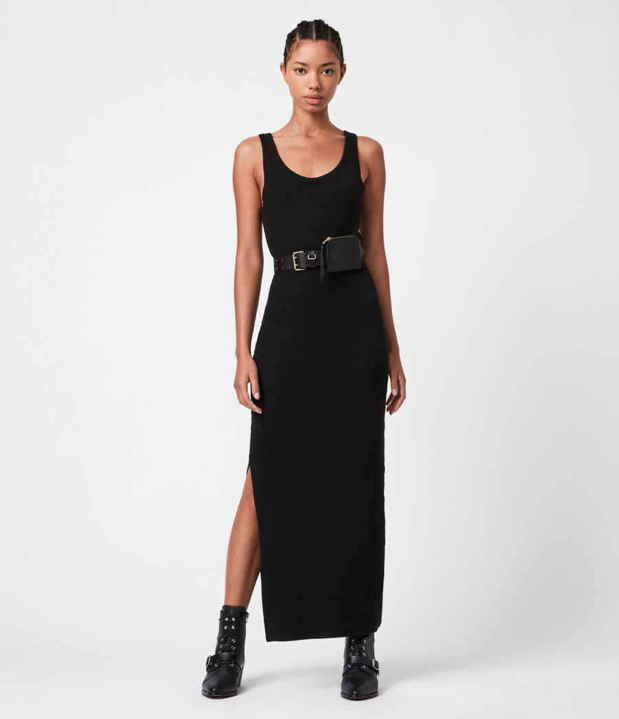 Womens Rina Tank Dress (black) - Image 1