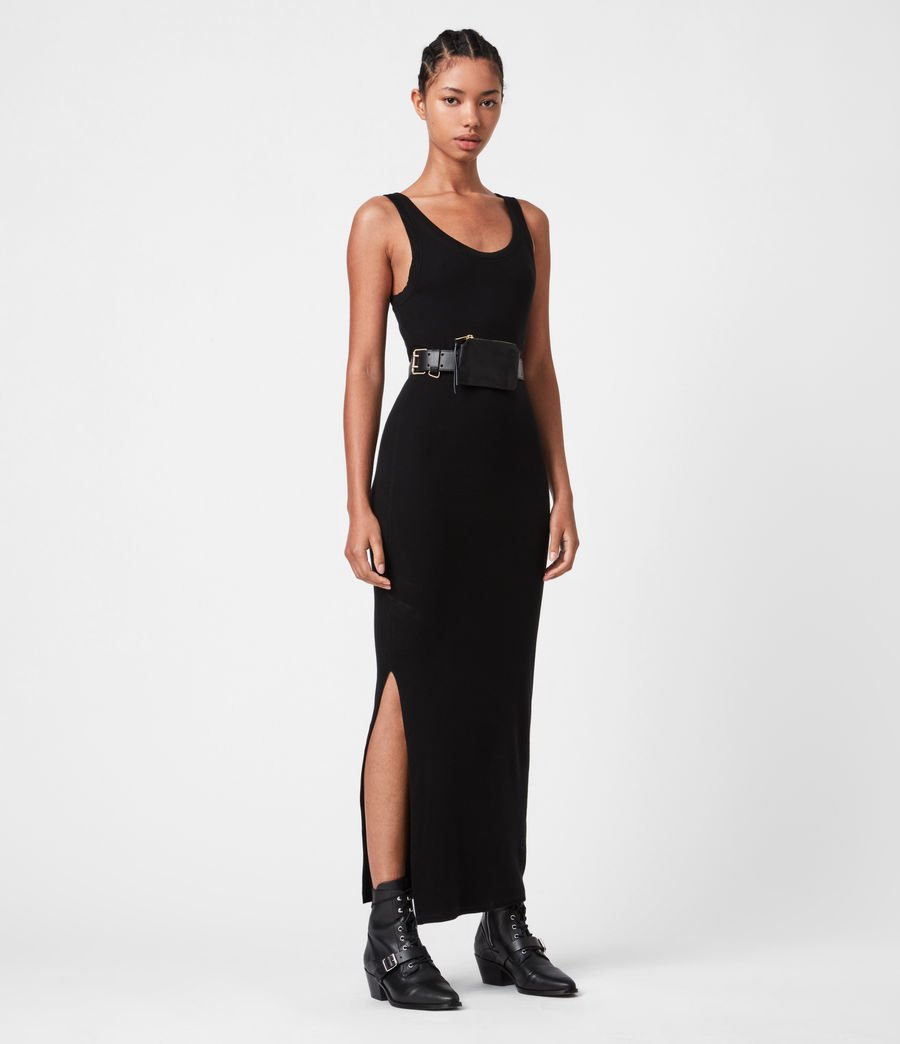 Women's Rina Tank Dress (black) - Image 4