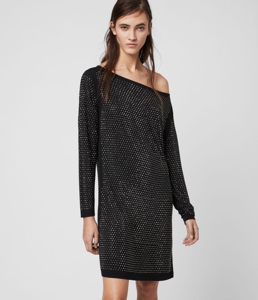 Womens Helene Sparkle Dress (black_gunmetal) - Image 1