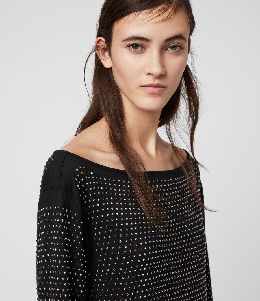 Womens Helene Sparkle Dress (black_gunmetal) - Image 2