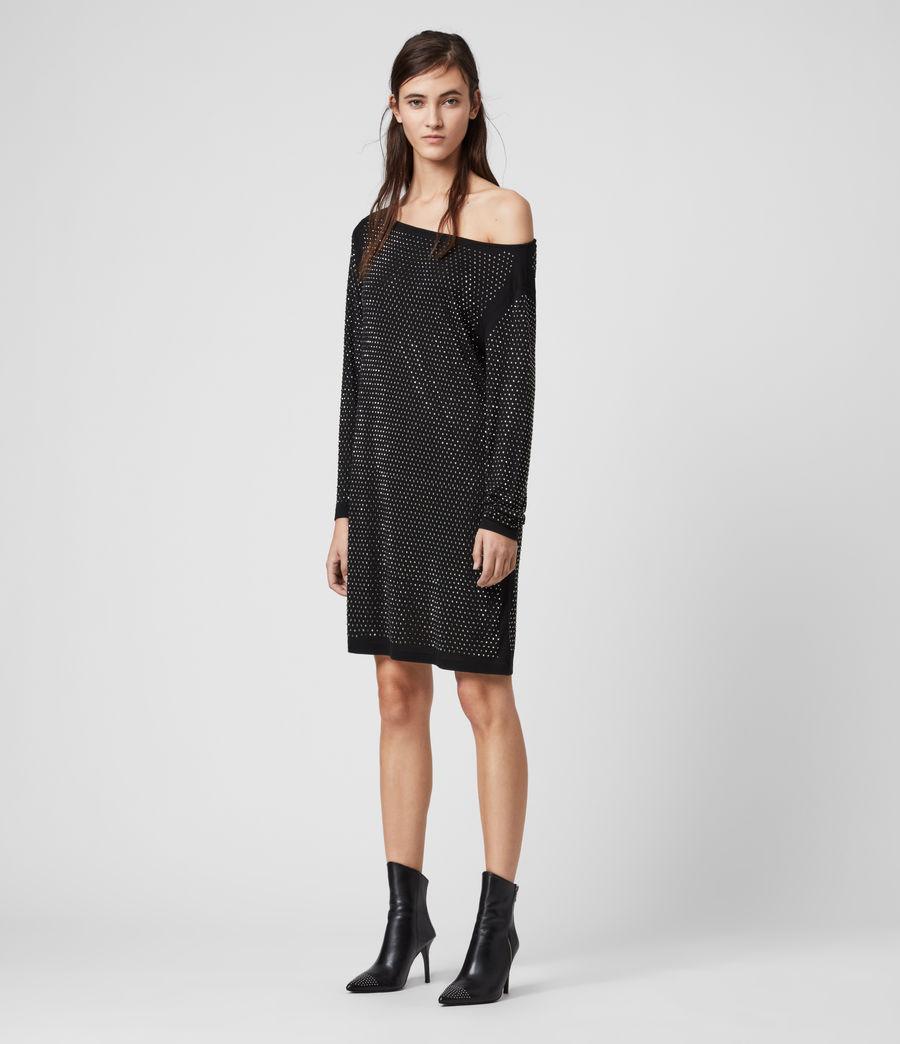 Womens Helene Sparkle Dress (black_gunmetal) - Image 3