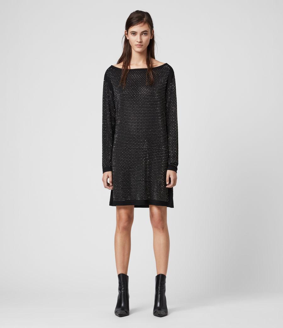 Womens Helene Sparkle Dress (black_gunmetal) - Image 4
