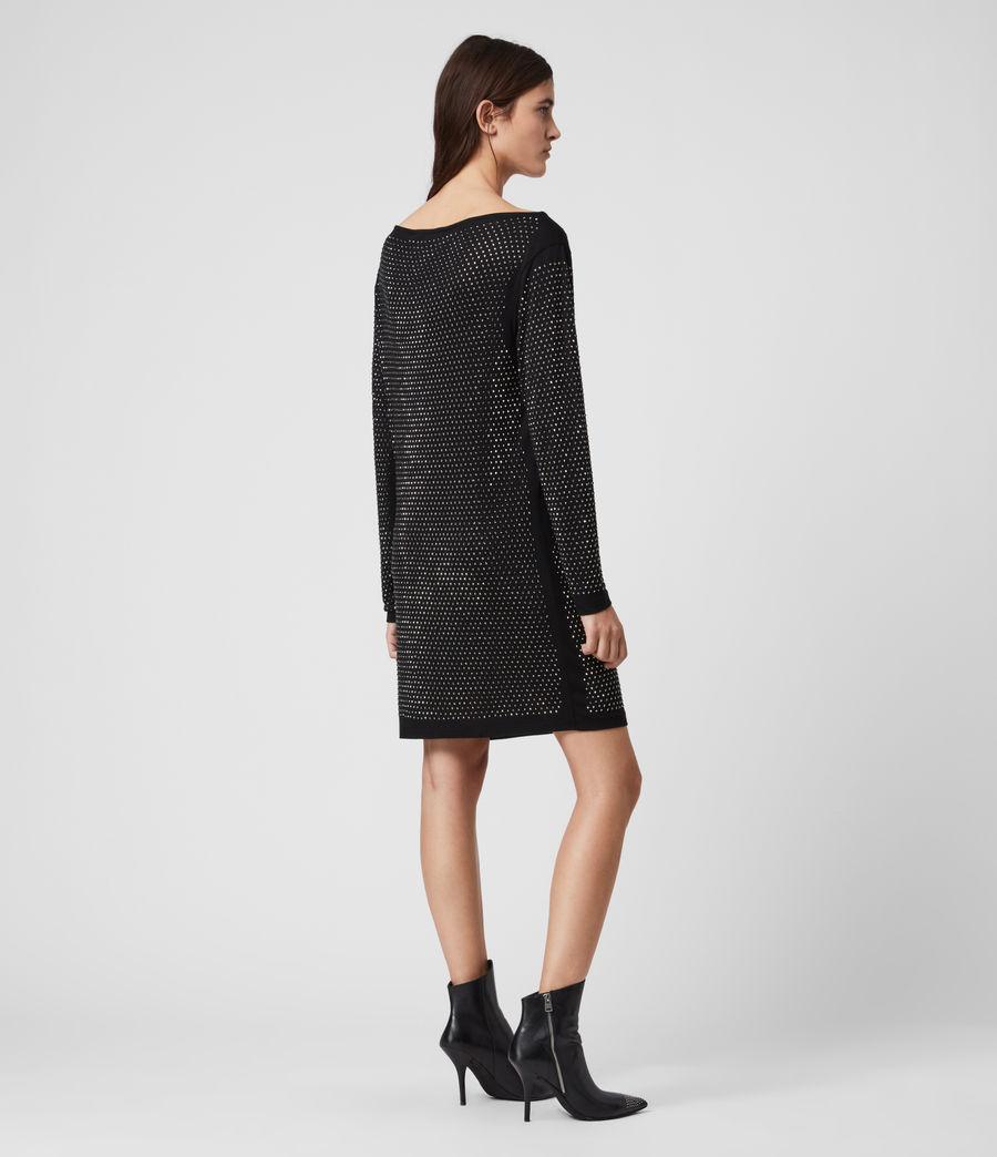 Womens Helene Sparkle Dress (black_gunmetal) - Image 5