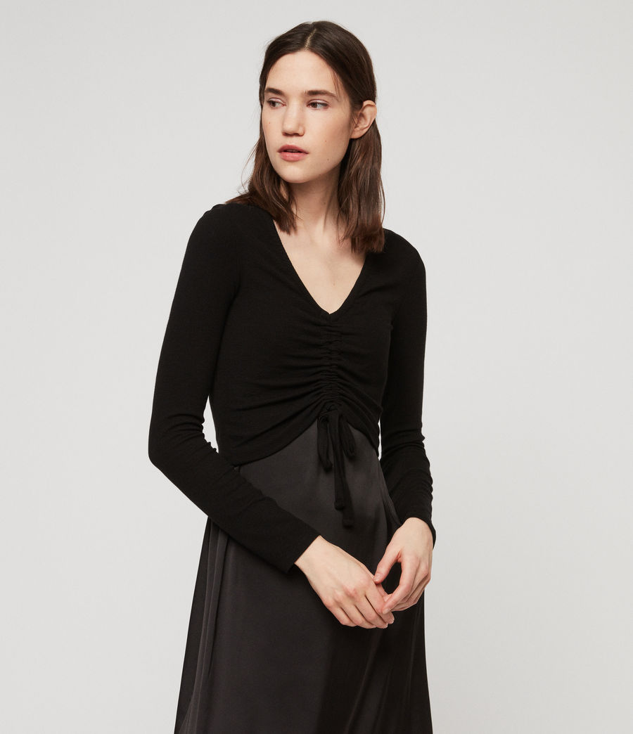 Womens Rina Dress (black) - Image 2
