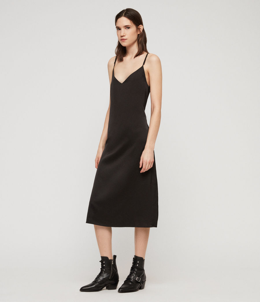 Womens Rina Dress (black) - Image 4