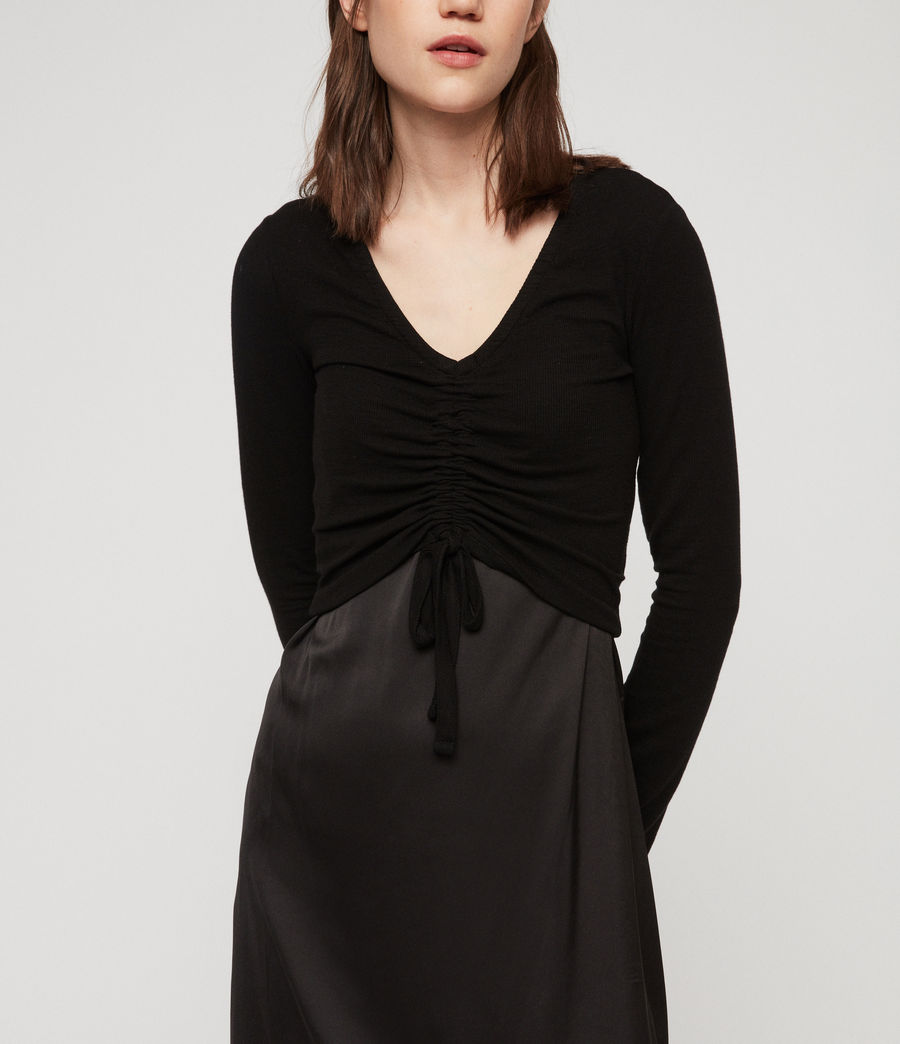 Womens Rina Dress (black) - Image 5