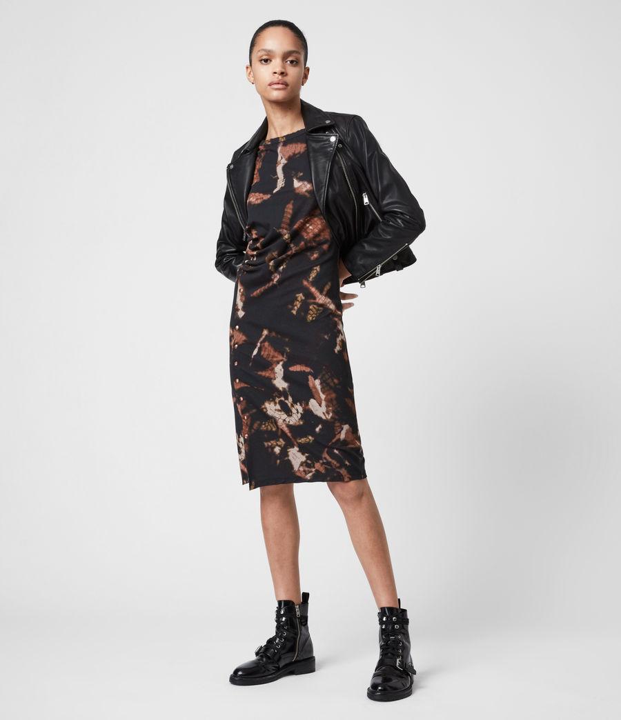 Femmes Hatti Tie Dye Dress (black) - Image 1