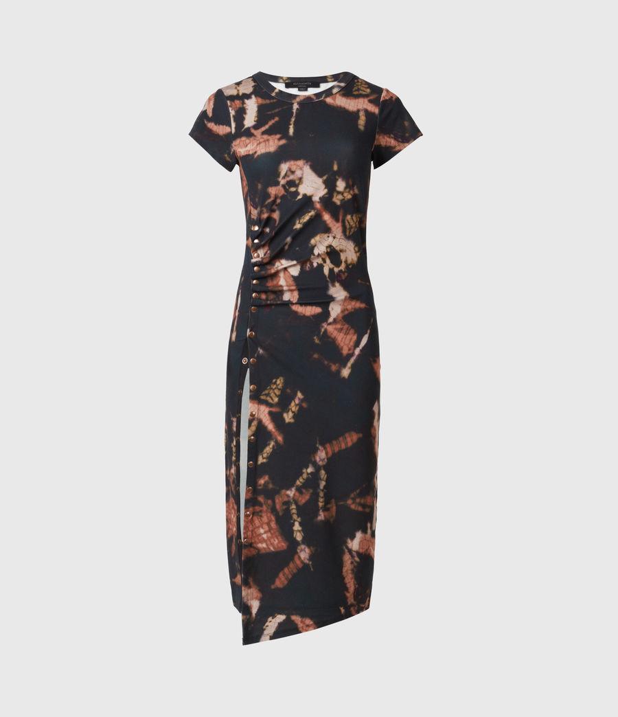 Femmes Hatti Tie Dye Dress (black) - Image 2