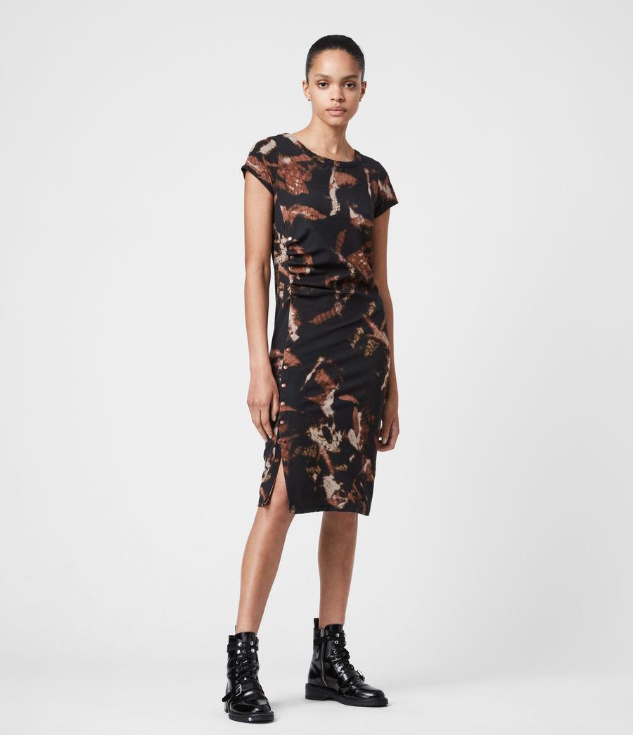 Femmes Hatti Tie Dye Dress (black) - Image 7