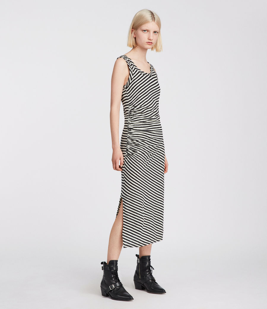 Women's Tina Stripe Dress (black_chalk) - Image 1