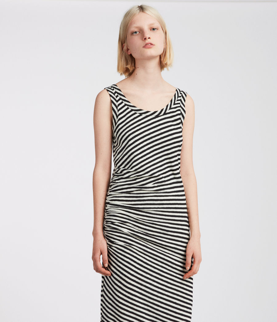 Women's Tina Stripe Dress (black_chalk) - Image 3