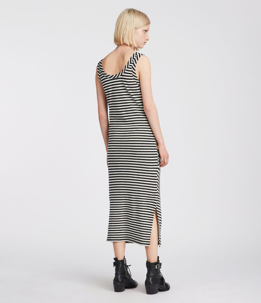 Women's Tina Stripe Dress (black_chalk) - Image 4