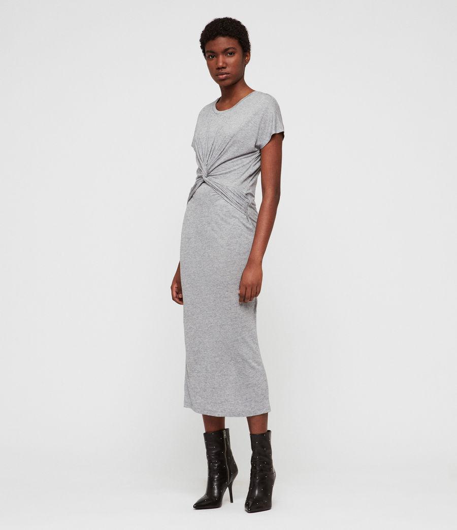 Womens Paloma Drape Dress (grey_marl) - Image 1