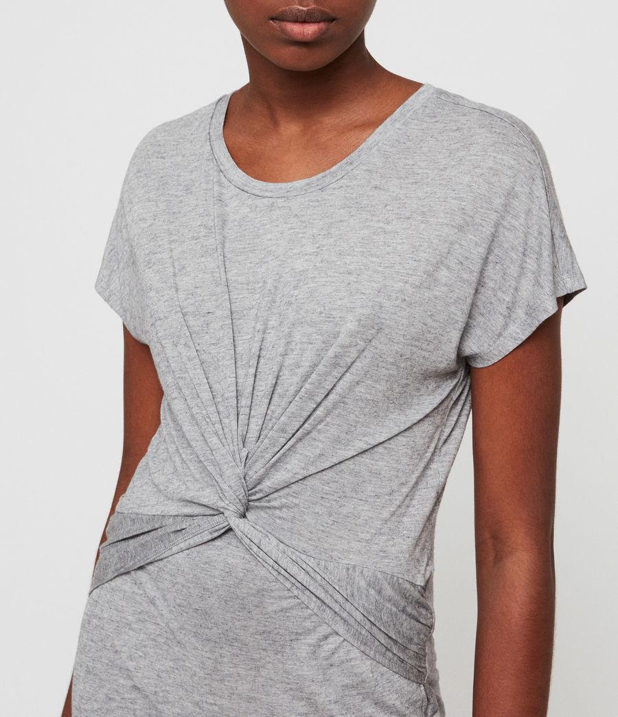 Womens Paloma Drape Dress (grey_marl) - Image 2