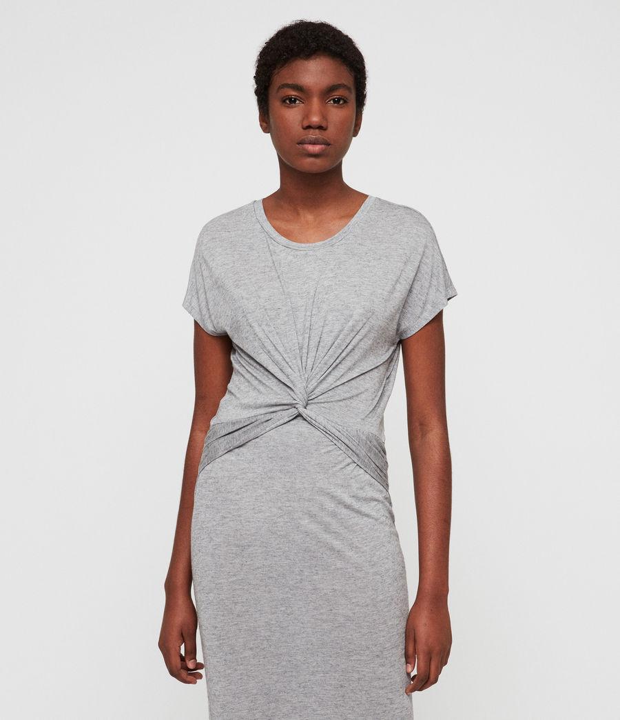 Womens Paloma Drape Dress (grey_marl) - Image 3