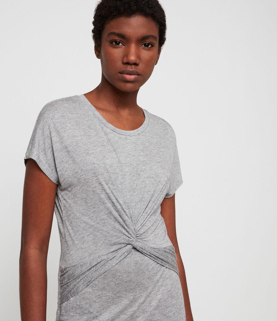 Womens Paloma Drape Dress (grey_marl) - Image 4