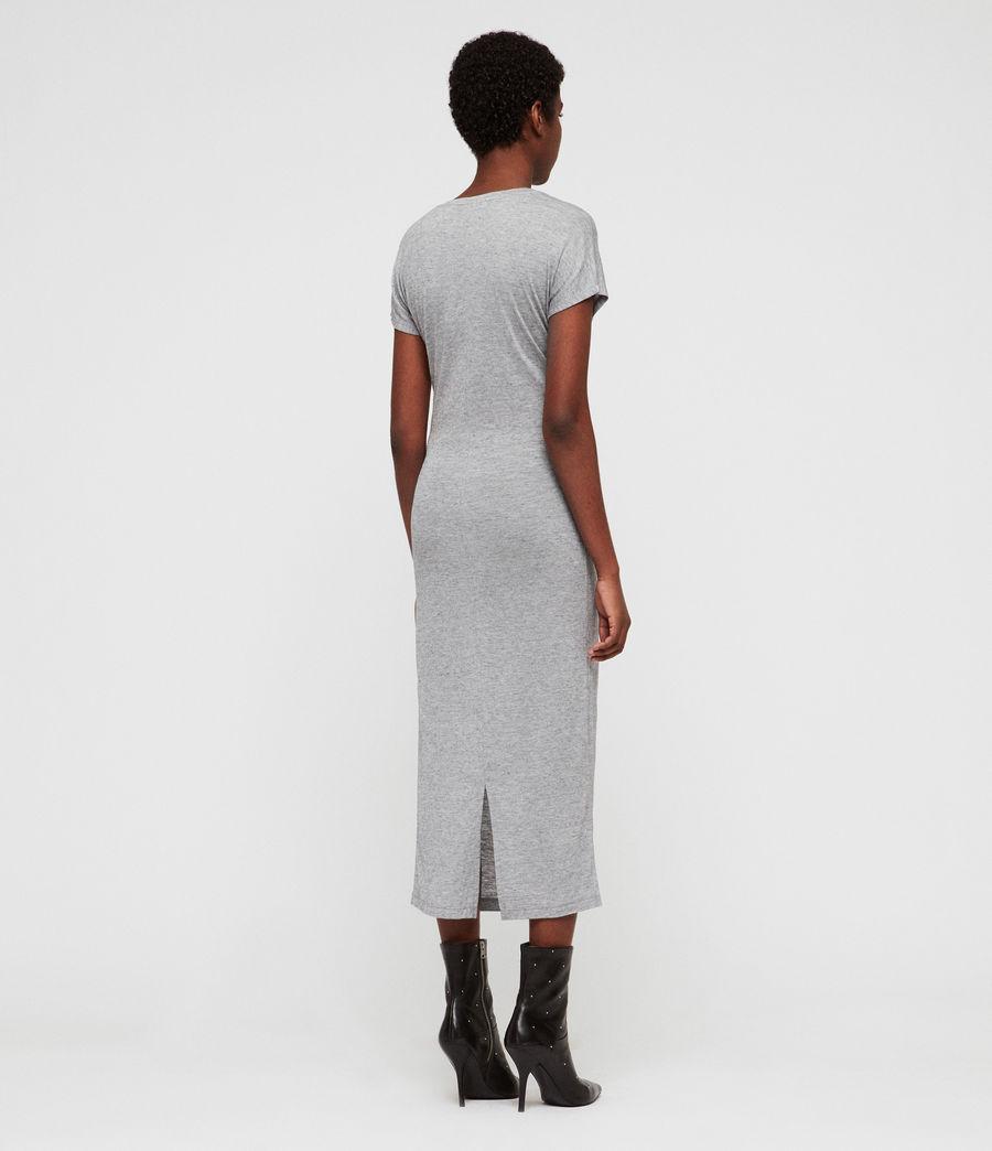 Womens Paloma Drape Dress (grey_marl) - Image 5