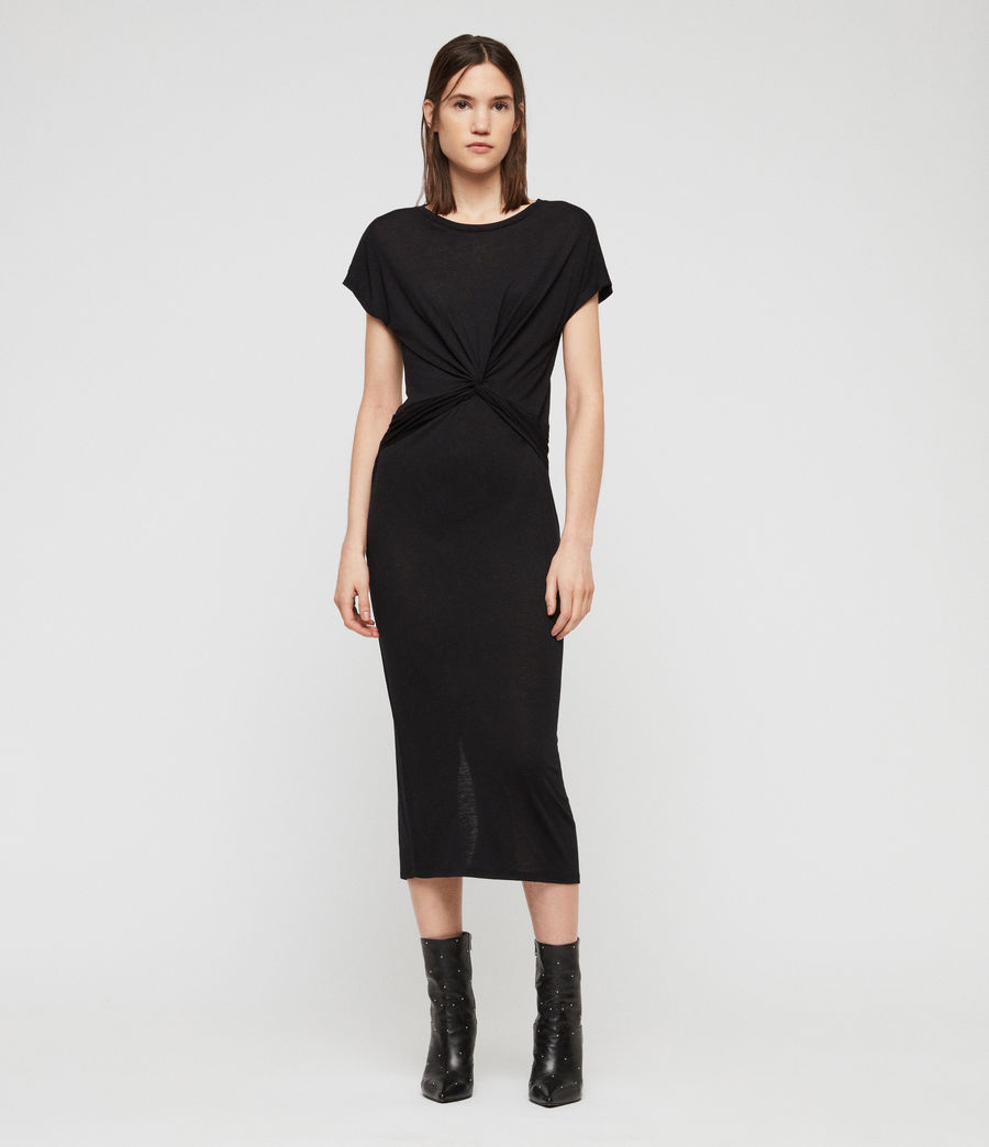 Women's Paloma Drape Dress (black) - Image 1