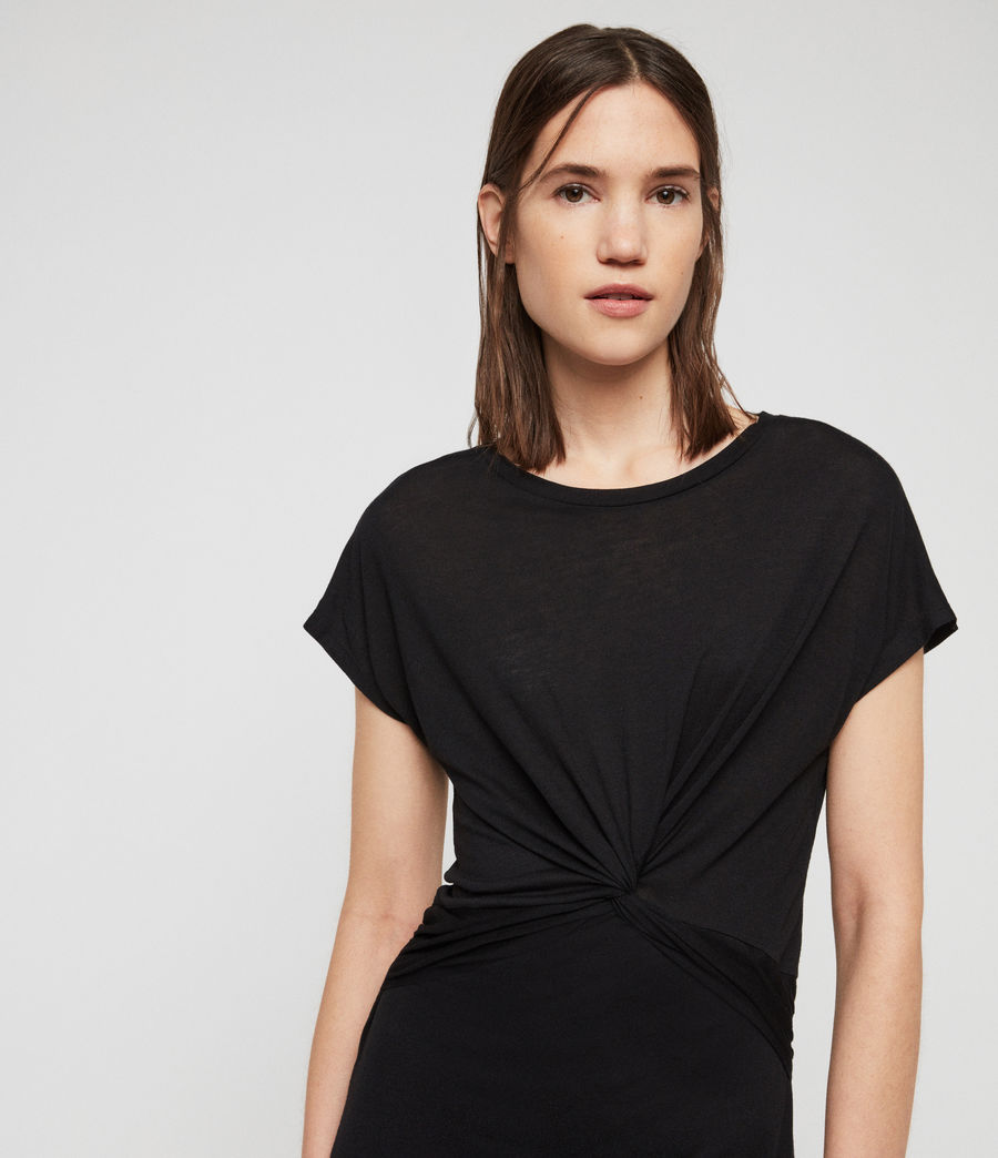 Women's Paloma Drape Dress (black) - Image 2