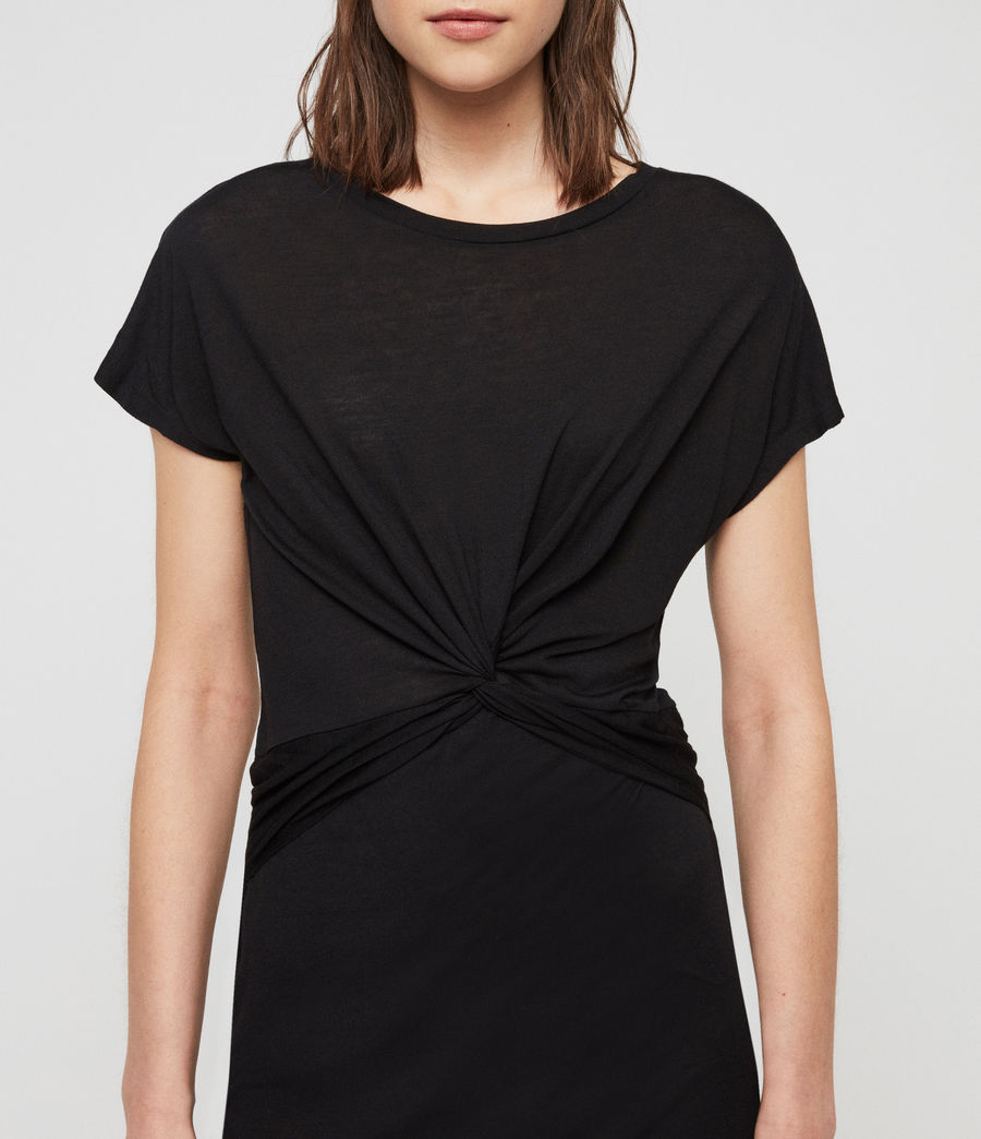 Women's Paloma Drape Dress (black) - Image 3