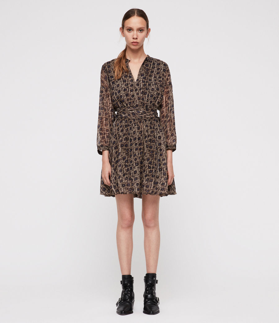 Womens Cosette Flux Dress (sand_brown) - Image 3