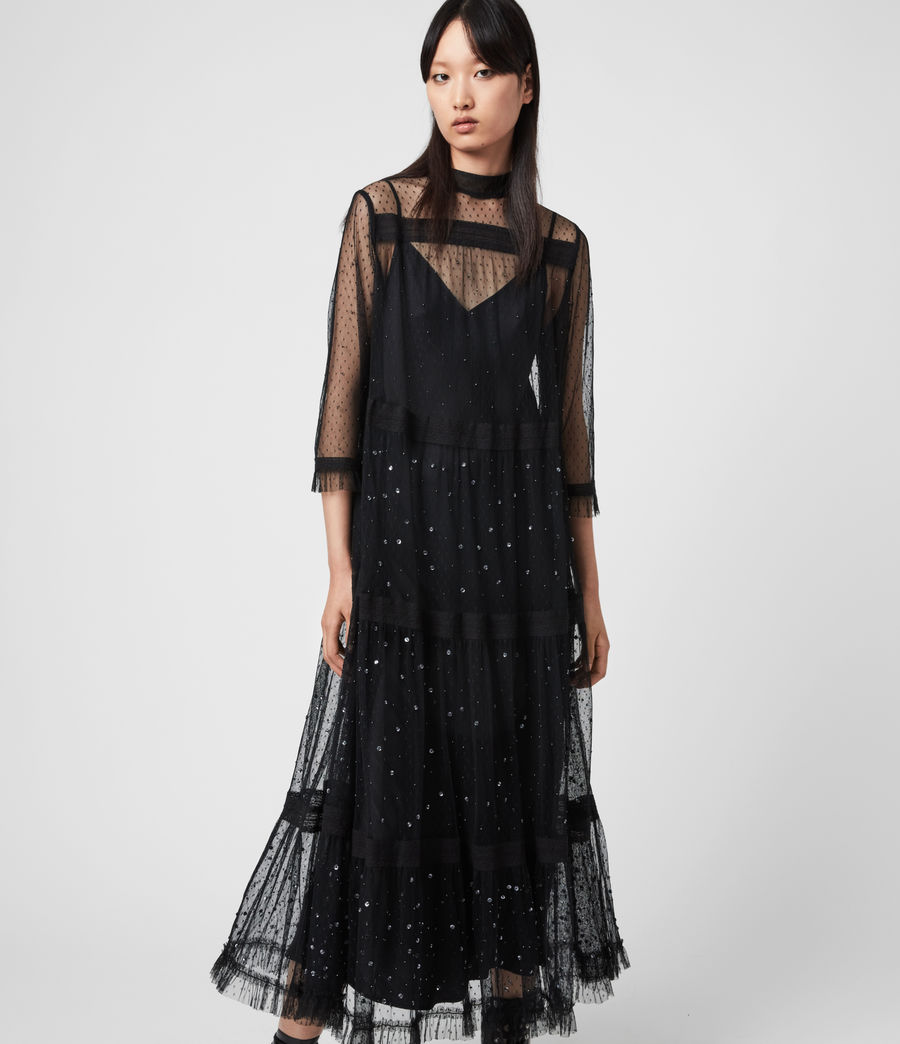 Women's Nima Embellished Dress (black) - Image 1
