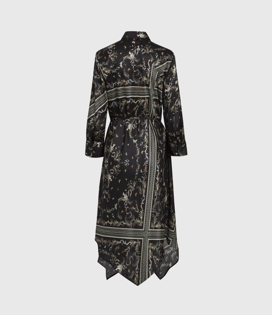 Womens Maia Assam Silk Blend Dress (black) - Image 3