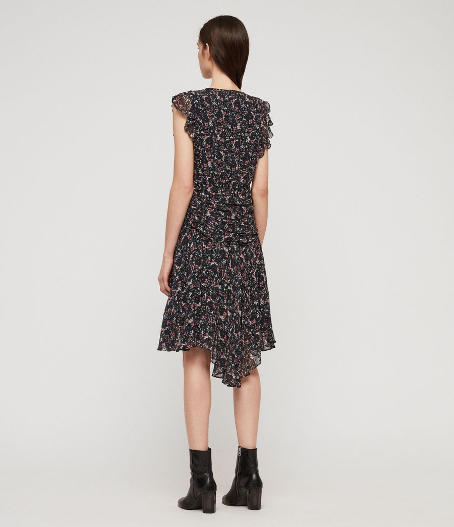 Women's Caris Sketch Dress (black) - Image 5