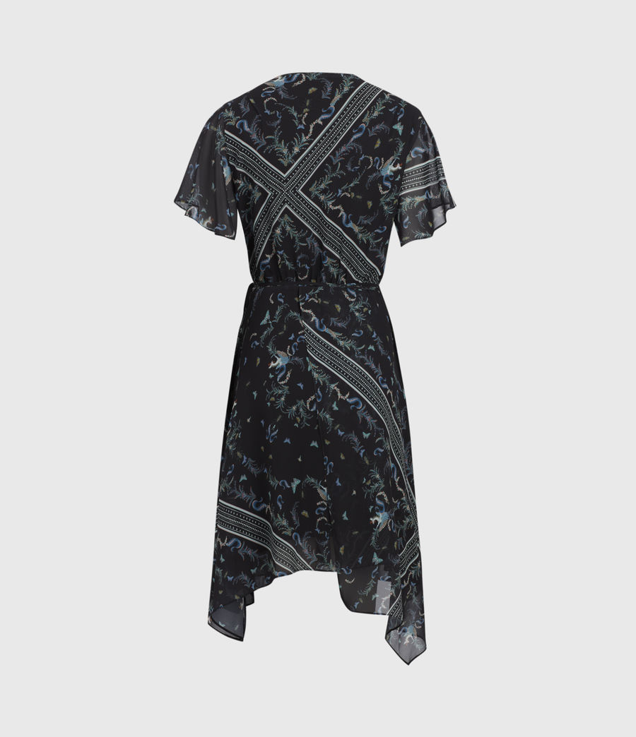 Womens Kaiya Assam Dress (black) - Image 3