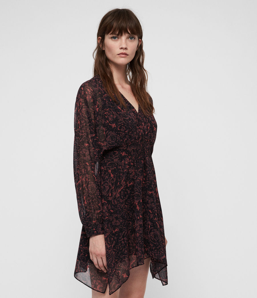 Mujer Nichola Rosey Dress (berry_red) - Image 3
