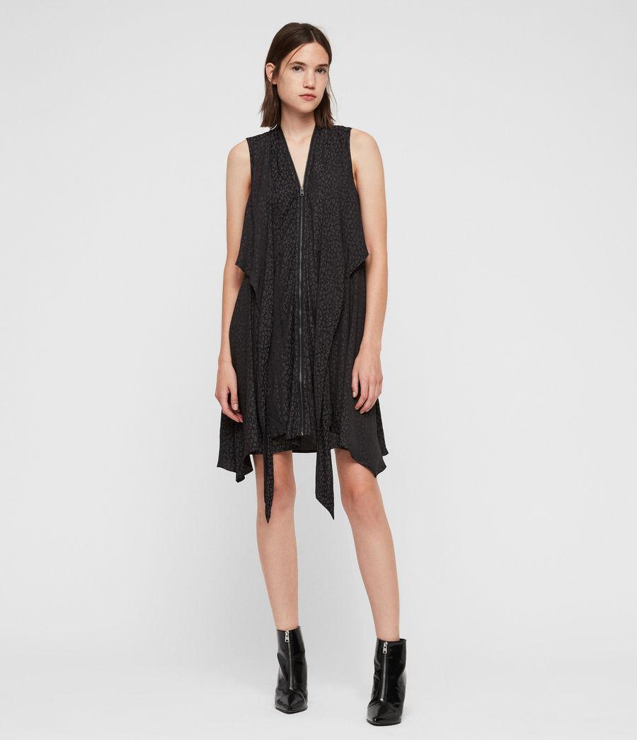 Womens Jayda Leopard Dress (black) - Image 1