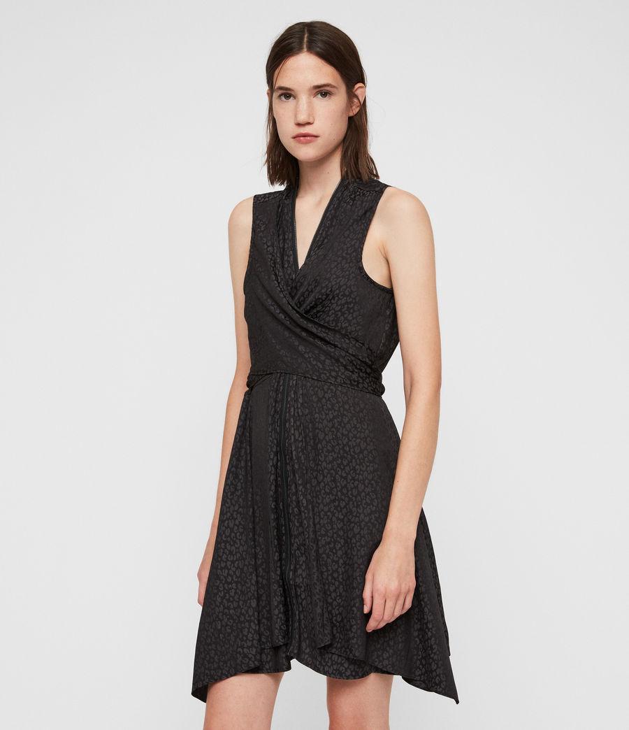 Womens Jayda Leopard Dress (black) - Image 2