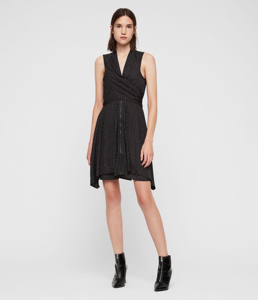 Womens Jayda Leopard Dress (black) - Image 3