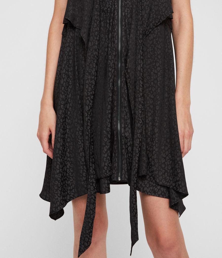 Womens Jayda Leopard Dress (black) - Image 4