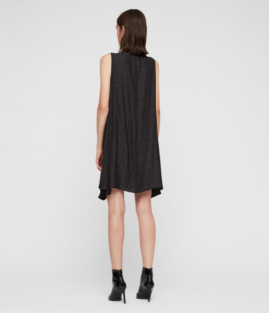 Womens Jayda Leopard Dress (black) - Image 5