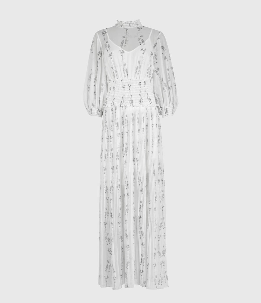 Womens Delfi Varanasi Dress (chalk_white) - Image 1