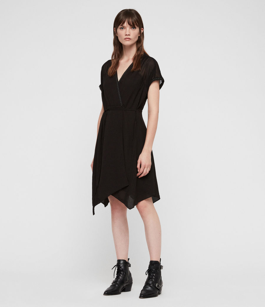 Women's Claria Dress (black) - Image 4