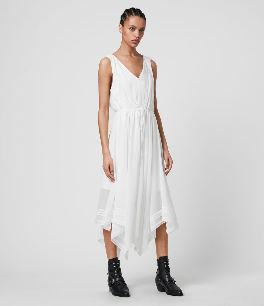 Womens Celeste Dress (chalk_white) - Image 4