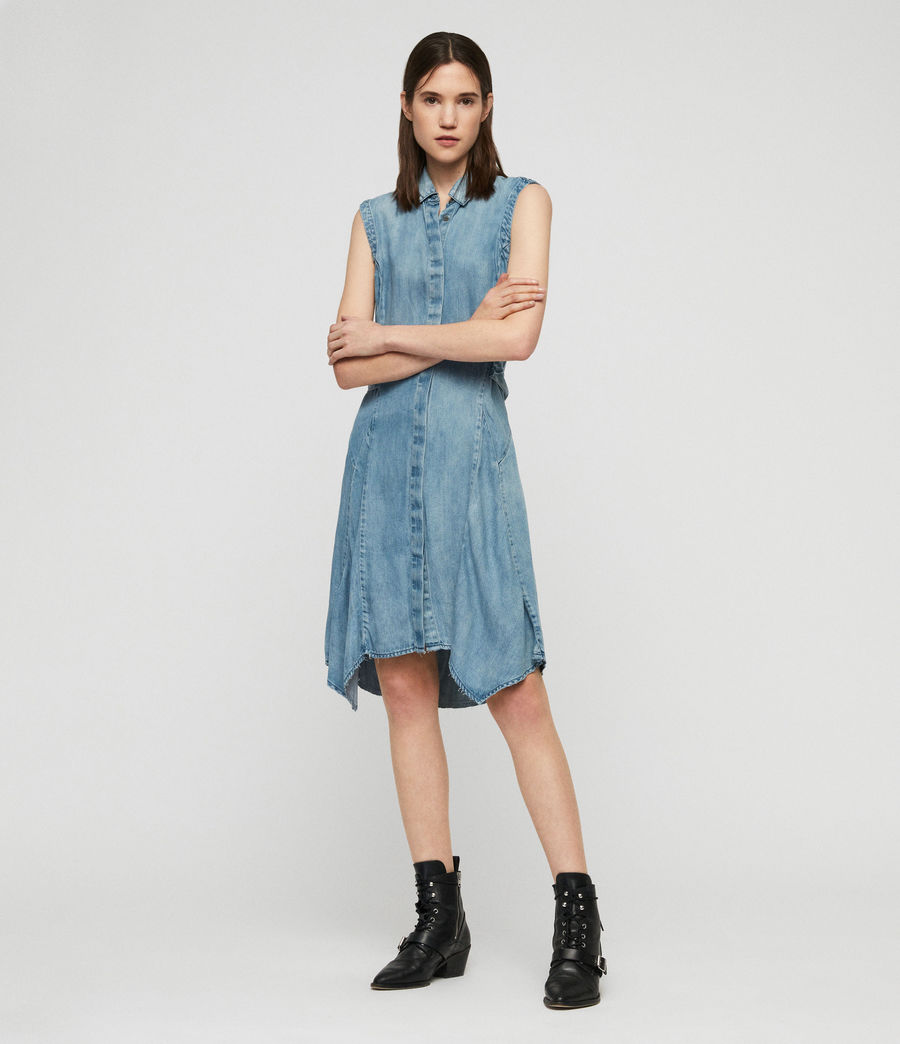 Womens Francis Denim Dress (indigo_blue) - Image 1