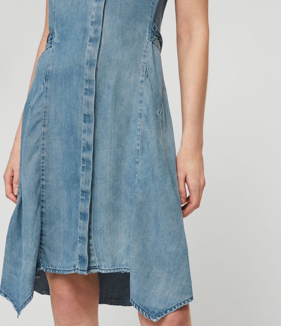 Womens Francis Denim Dress (indigo_blue) - Image 3