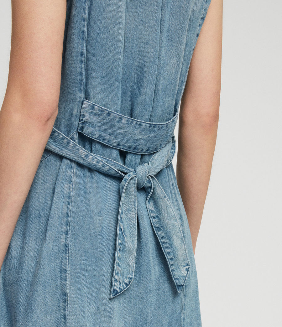 Womens Francis Denim Dress (indigo_blue) - Image 5