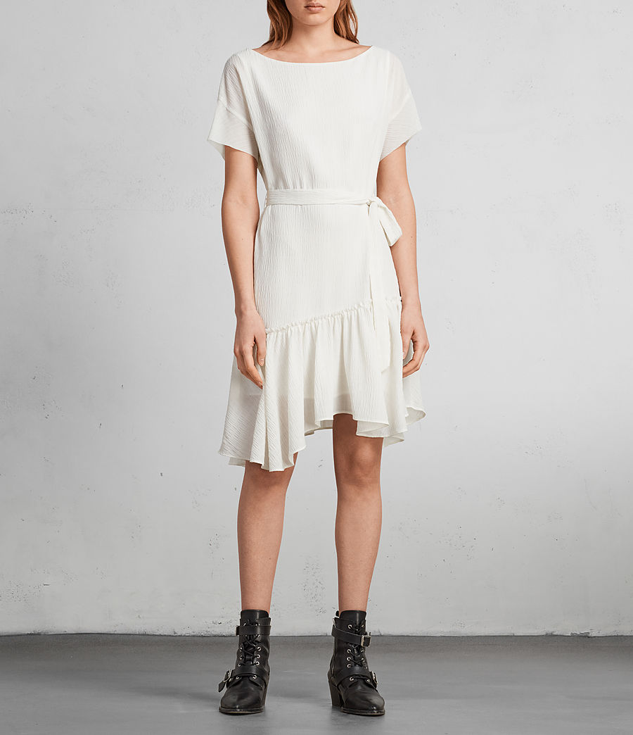 Women's Sara Textured Dress (chalk_white) - Image 1