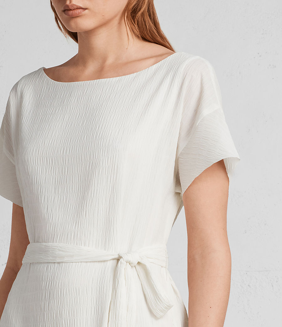 Women's Sara Textured Dress (chalk_white) - Image 2